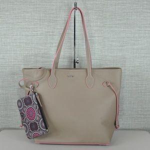 NWT Lodis Tote Bag in Tan/Pink